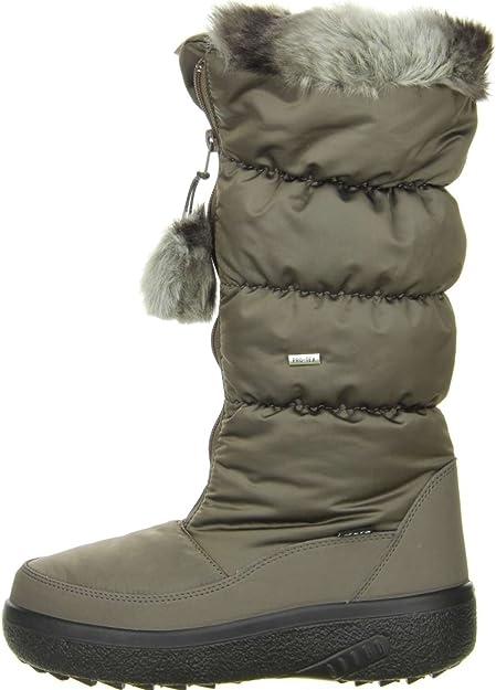 Vista Damen Winterstiefel Snowboots Khaki: : Schuhe