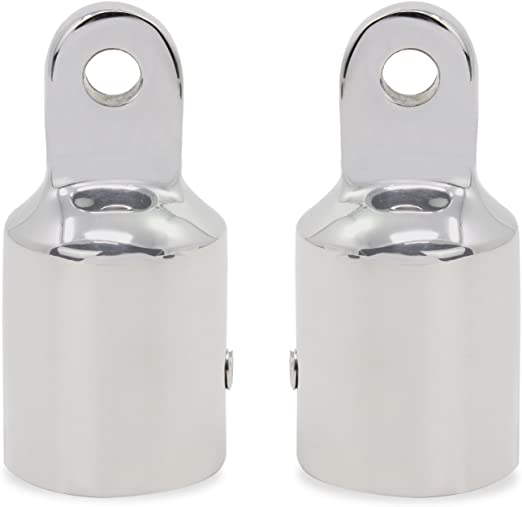 """4pcs Stainless Steel 316 Polished Bimini Top Fittings Eye End Cap Fit 7//8/"""""""