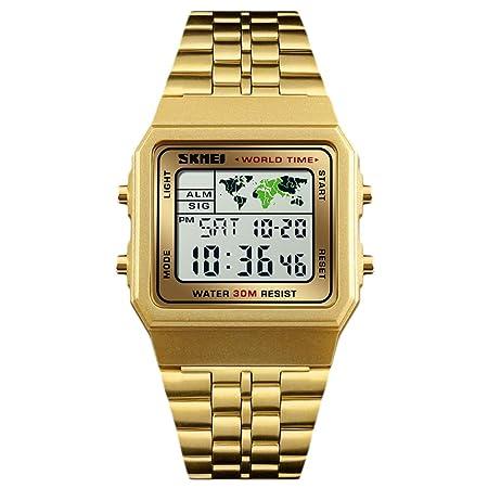 EisEyen Reloj Digital electrónico, Resistente al Agua, para ...