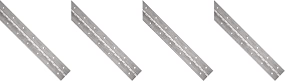 """0.06/"""" Leaf Thickness Unfinished Aluminum 3003 Continuous Hinge with Holes"""