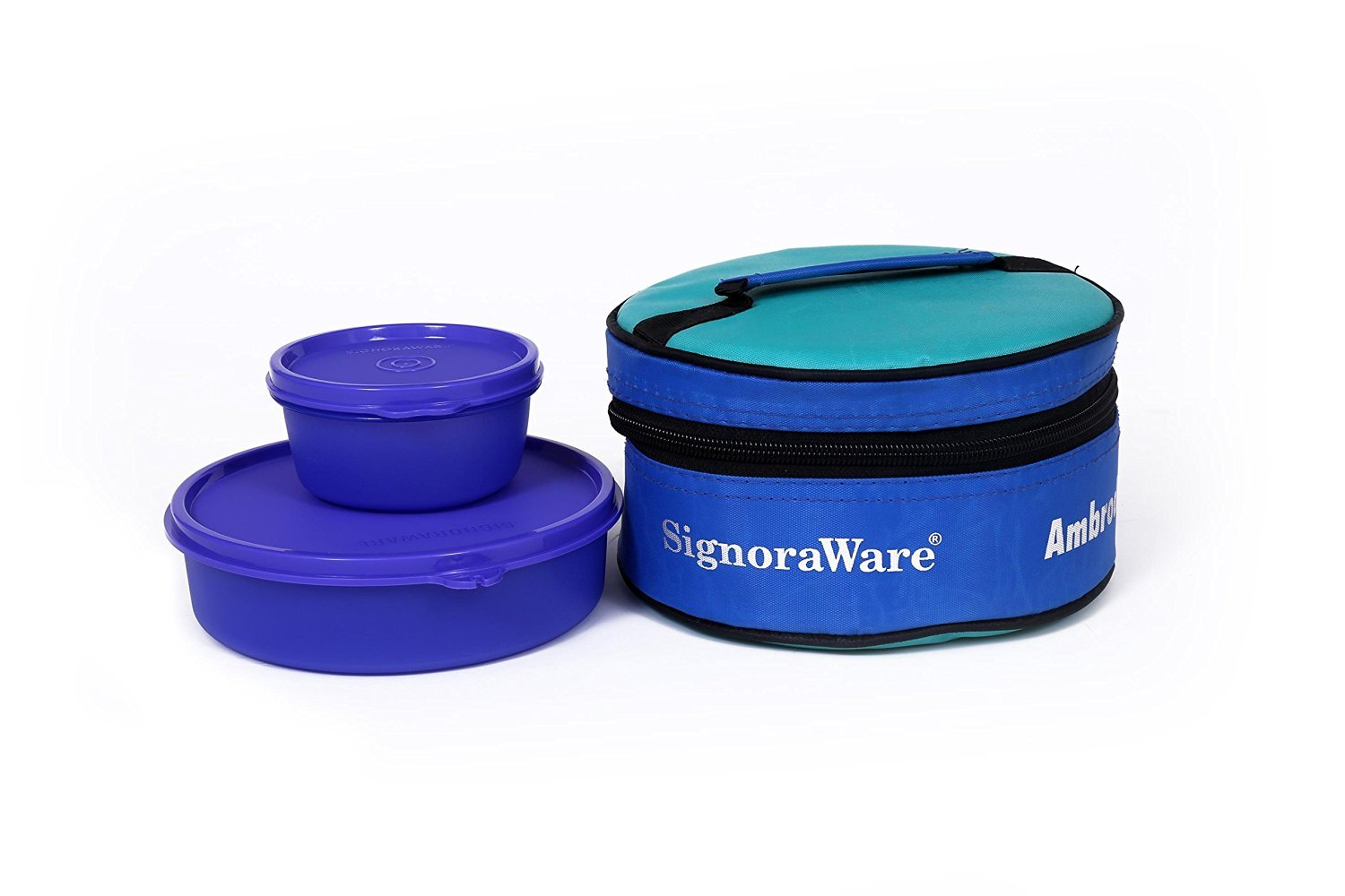 Signoraware Small New Classic Plastic Lunch Box with Bag Small, Deep Violet