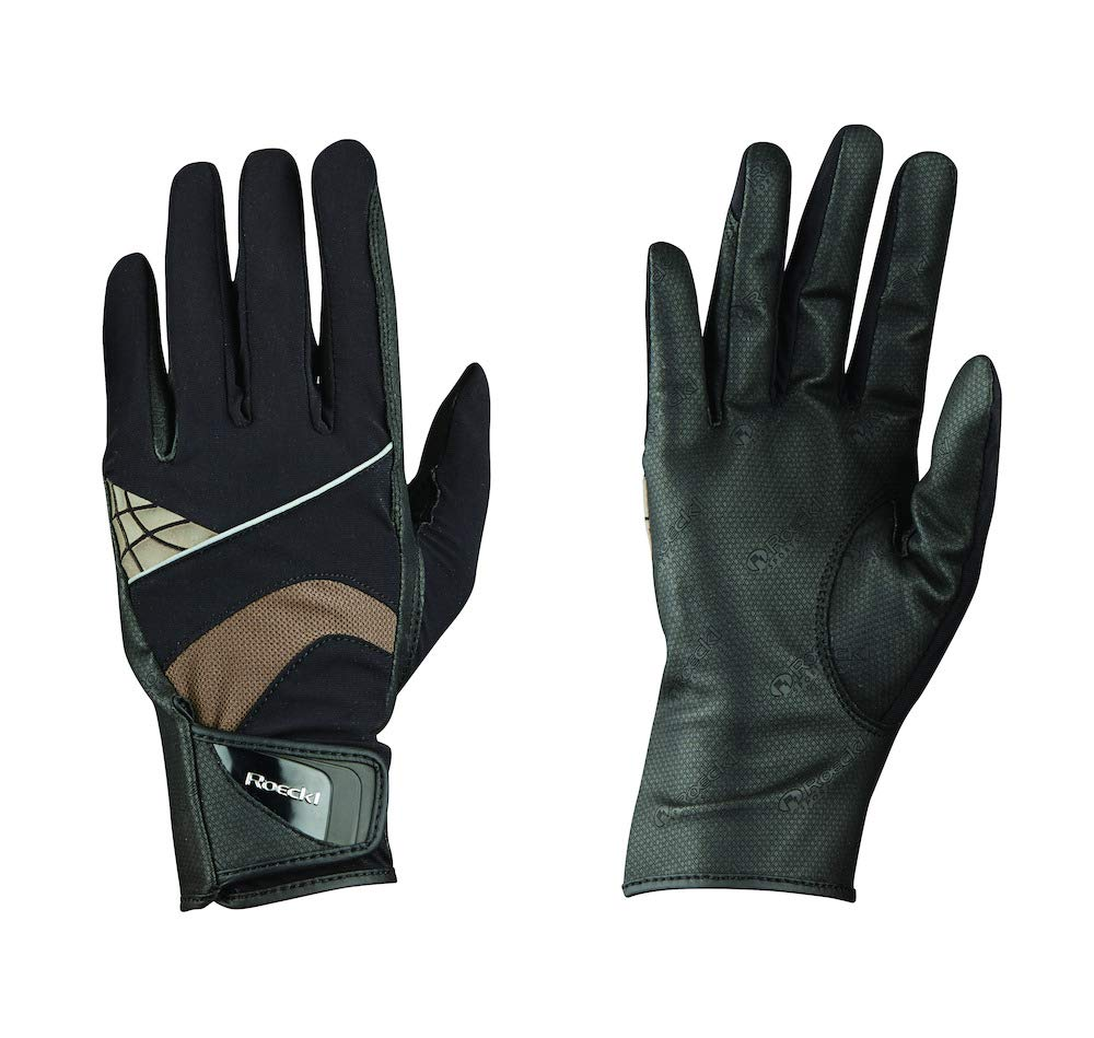 Roeckl – riding gloves Montreal 黒-mocca