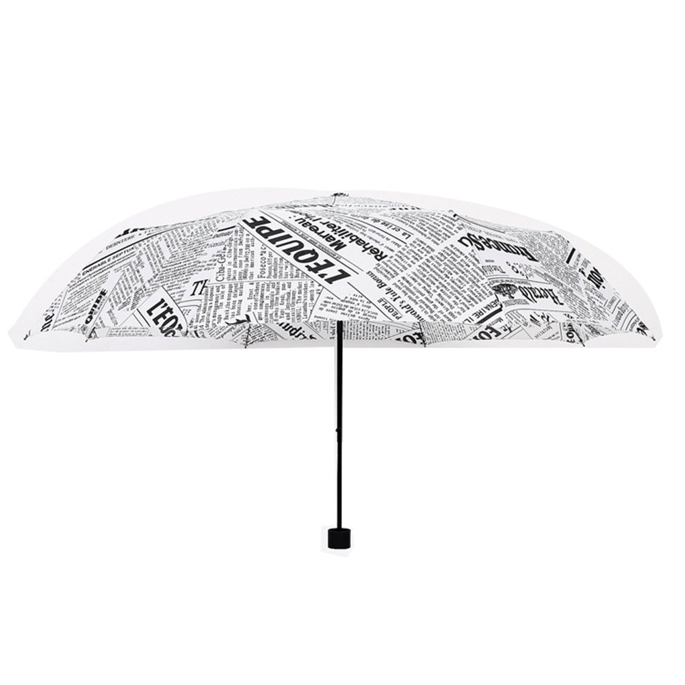 NEAER Trval Umbrella,Originality Newspaper Umbrella, Lightweight Umbrella,Three-Folding Style Umbrella