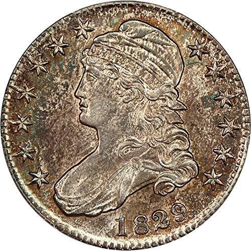 1829 P Bust Half Dollars 1829/7 Half Dollar AU53 PCGS