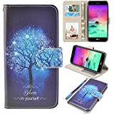 LG stylo 3 Case, UrSpeedtekLive LG stylo 3 Wallet Case, Premium PU Leather Flip Wallet Case Cover with Card Slots & Kickstand for LG stylo 3 Case, Believe in yourself