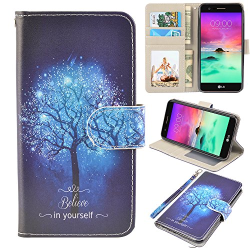LG stylo 3 Case, UrSpeedtekLive LG stylo 3 Wallet Case, Premium PU Leather Flip Wallet Case Cover w/Card Slots & Kickstand Compatible with LG stylo 3, Believe in - Case 3 Style