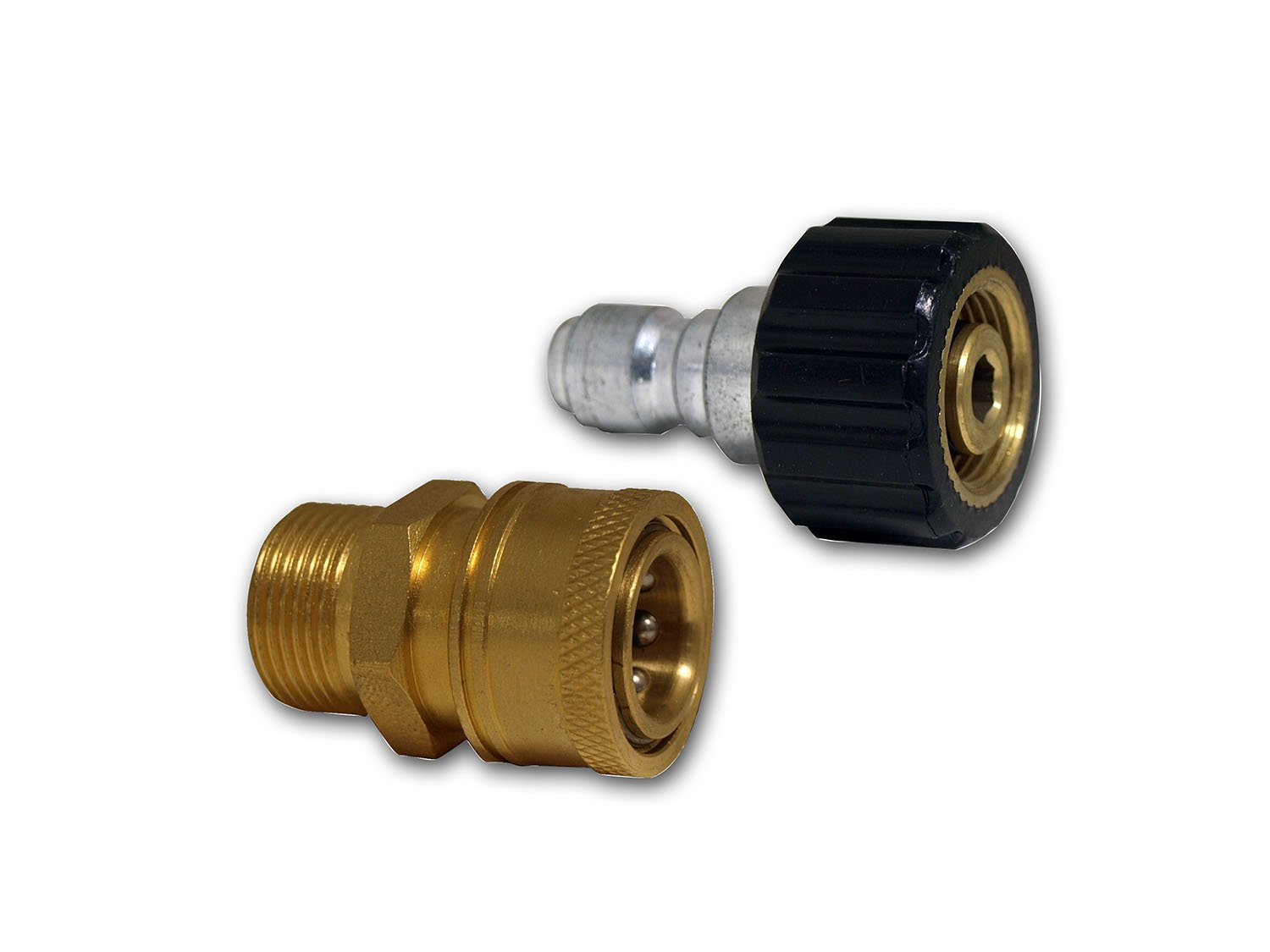 Apache 44048748Female Metric x 3 8 Quick Disconnect Socket Plug Pressure Washer Adapter Set