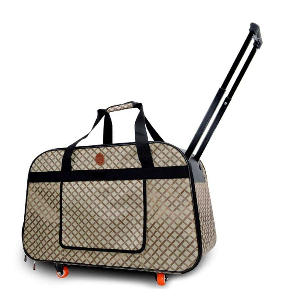 A AYCC Pet Travel Trolley, Portable, Rolling Carrier Bag With Telescopic Handle,A