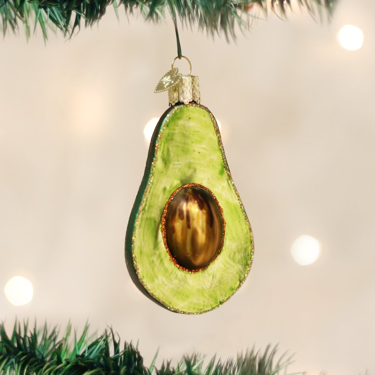 Amazon.com: Old World Christmas Ornaments: Avocado Glass Blown ...