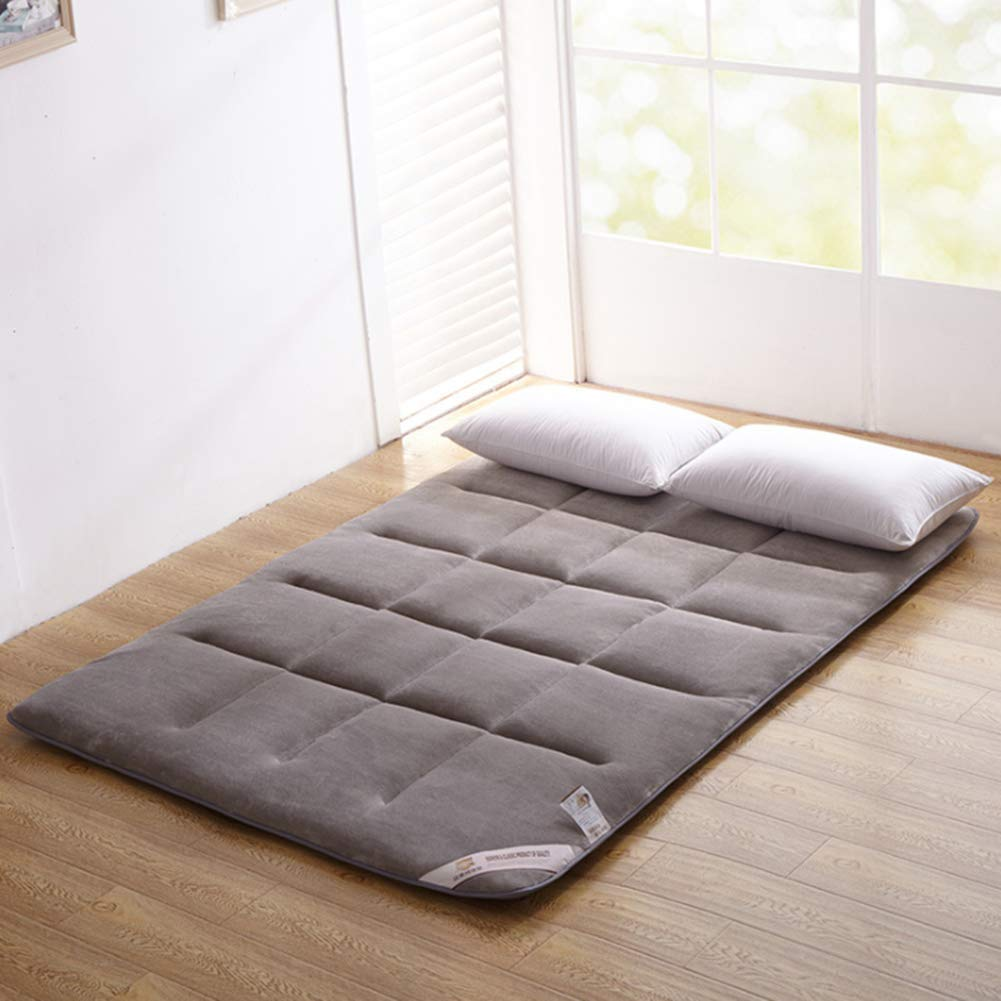 V-mix Floor Futon Mattress Japanese Twin Sleeping Pad Tatami Mat Bed Roll Up Mattress Flannel Topper by V-mix