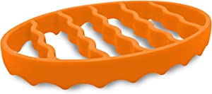 Silicone Roasting Rack For Pressure Cooker, Oval Silicone Roasting Accessories Compatible With Oven, Crock Pot 6 Qt And 8 Quart, Trivet Roaster Insert Racks For Cooking Meat, Baking (Oval, Orange)
