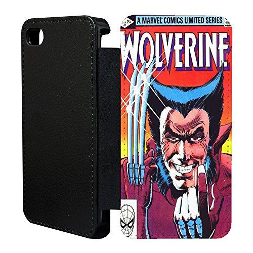 DC Marvel Comic Book Case Flip Tasche Cover für Apple iPhone 6Plus–Wolverine–921