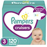 Diapers Size 3, 120 Count - Pampers Cruisers Disposable Baby Diapers, Giant Pack (Packaging May Vary)