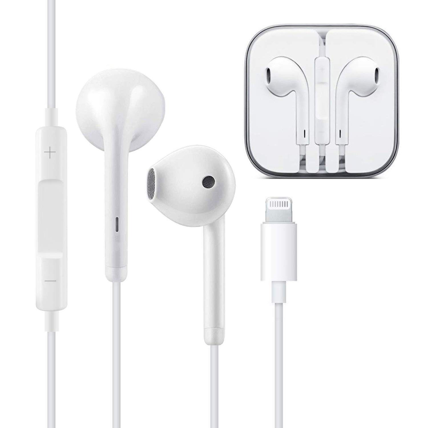Earbuds,Microphone Earphones Stereo Headphones Noise Isolating Headset Compatible with iPhone X XS XS Max XR 7 8 Earphones 02