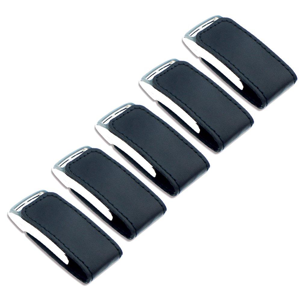 Litop 4GB Pack of 5 Black USB 2.0 Flash Drive Memory U Disk High Quality Metal PU Leather