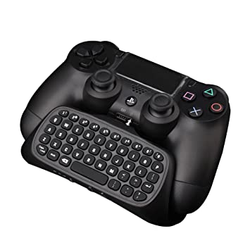 Ps4 Controller Keyboard Megadream 2 4g Wireless Rechargeable Online Gaming Live Chat Message Chatpad Keypad With 3 5mm Audio Aux In Headset For Sony