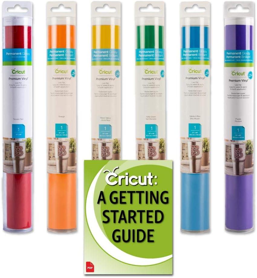 Cricut Premium Permanent Vinyl Rainbow Colors Bundle