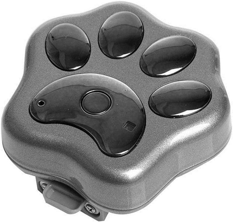 JXBDP Pet GPS 3G Tracker Collar Impermeable/Alarma/Seguimiento en Tiempo Real/Luces de Sensor para Perros y Gatos y Monitor de Actividad de Mascotas,Gray