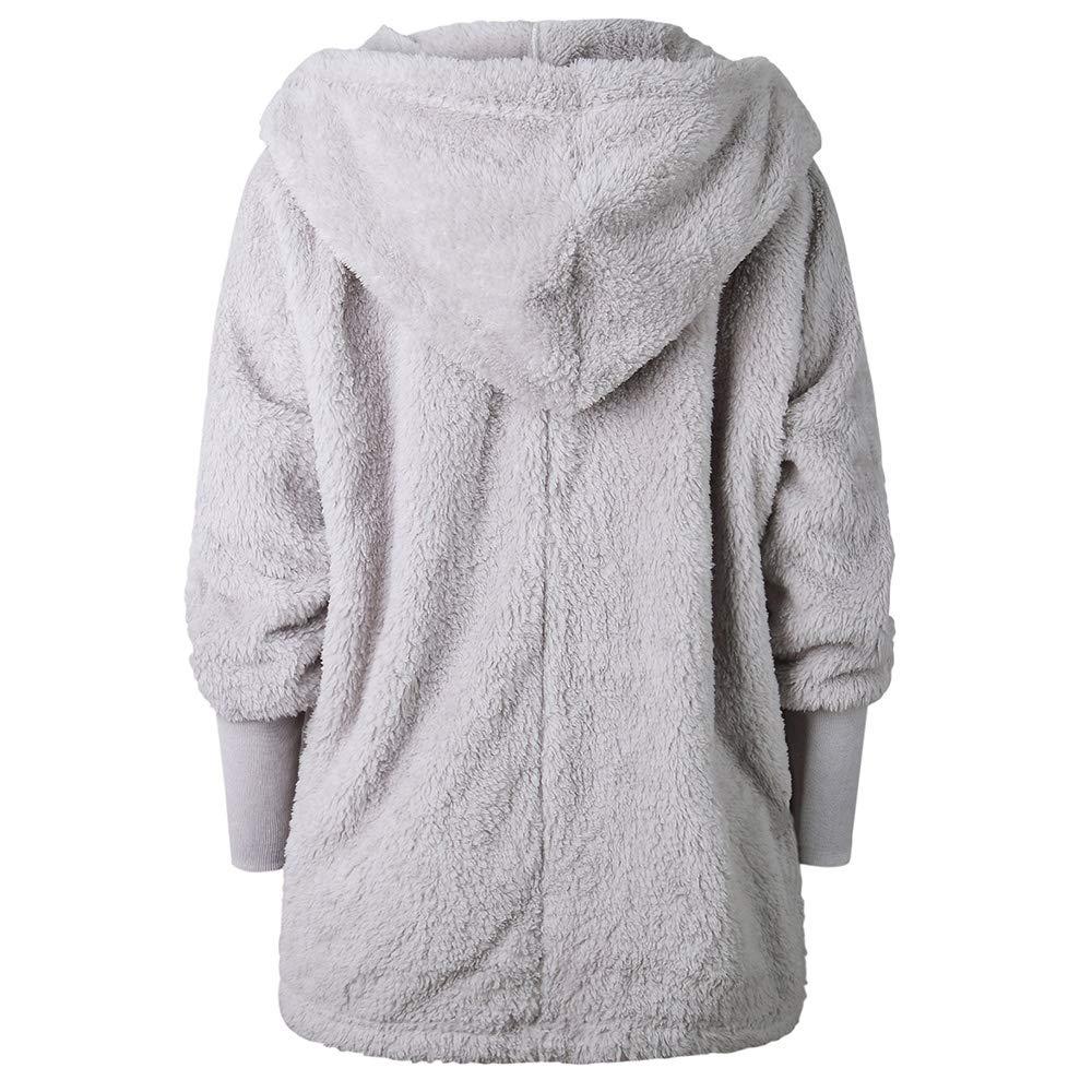 ZAFUL Womens Hooded Faux Fur Coat Oversize Open Front Soft Cardigan Outwear for Winter