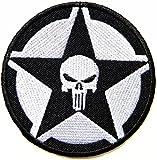 Black Skull Swat Tactical Military Patch Iron On Vest Suit Jacket Bag Cap