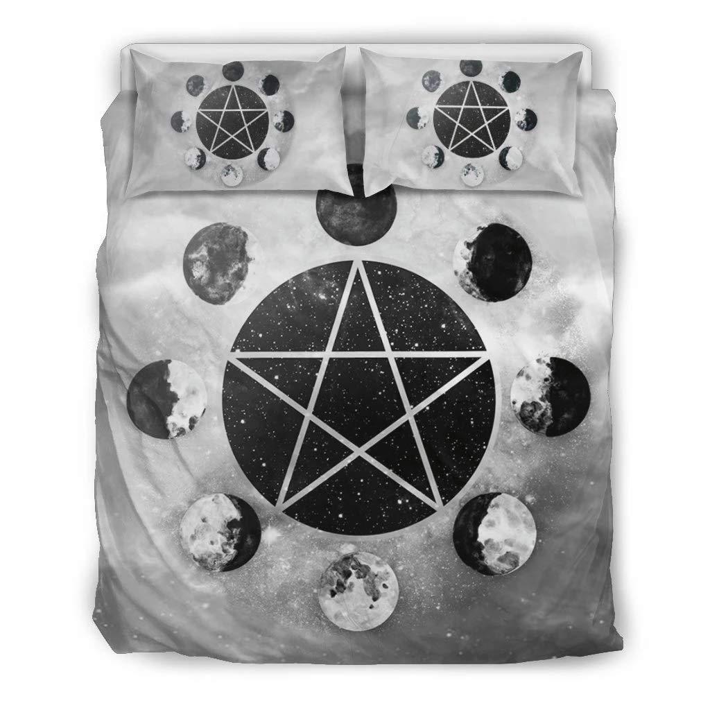 MoonChildWorld Pentacle Pentagram Moon Pagan Wiccan Wicca Bedding Set Duvet Cover