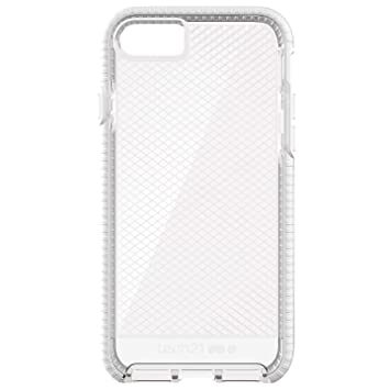 new styles 72c03 ec9a7 Tech21 Protective Thin Evo Check Pattern Back Case Cover for Apple iPhone 7  Plus/8 Plus - Clear/White