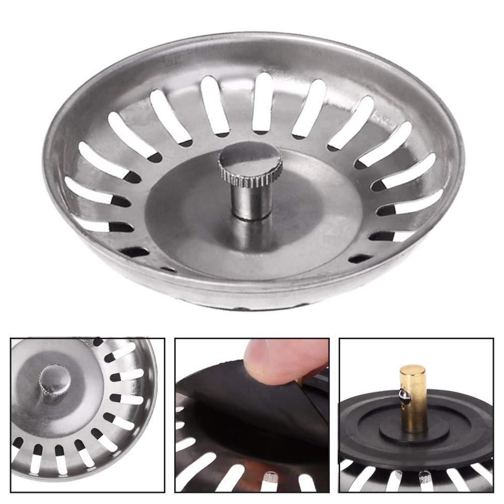 Stainless Steel Kitchen Sink Strainer Plug Sink Strainer Bathroom Waste Strainer