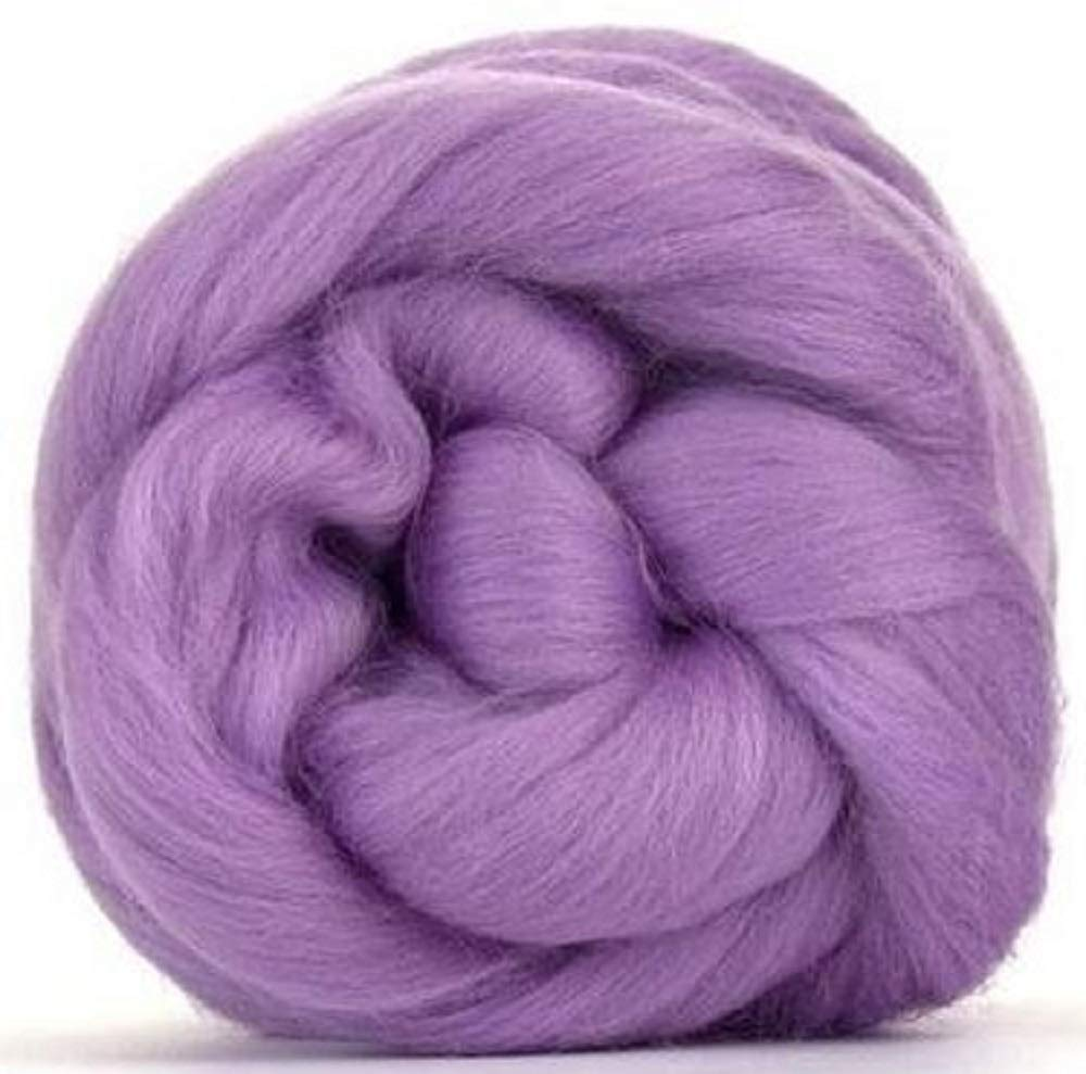Purple 4 oz Paradise Fibers 64 Count Dyed Lavender Felting Blending and Weaving Merino Top Spinning Fiber Luxuriously Soft Wool Top Roving for Spinning with Spindle or Wheel