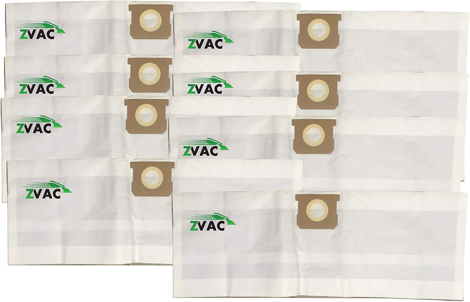 ZVac 8 Pack Compatible Shop Vac Bags 5-8 Gallon Replacement Bags Type H & Type E Shop-Vac Bags. Compare These Generic Bags to OEM 9067100 + 90671 + 9066100 + 90661