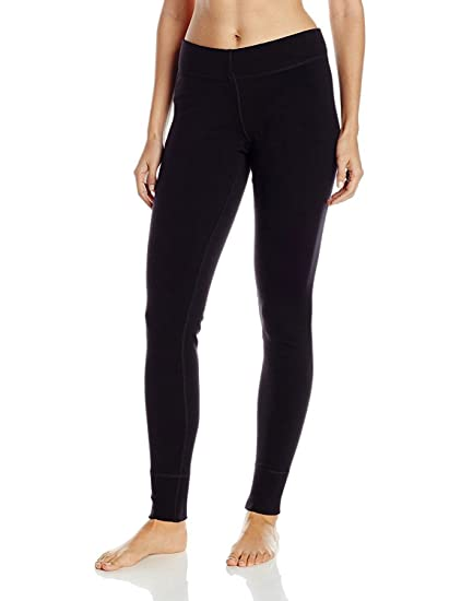 6bf32c9cc2075 Woolx Womens Avery Midweight Merino Wool Base Layer Leggings For Warmth,  Black, X-