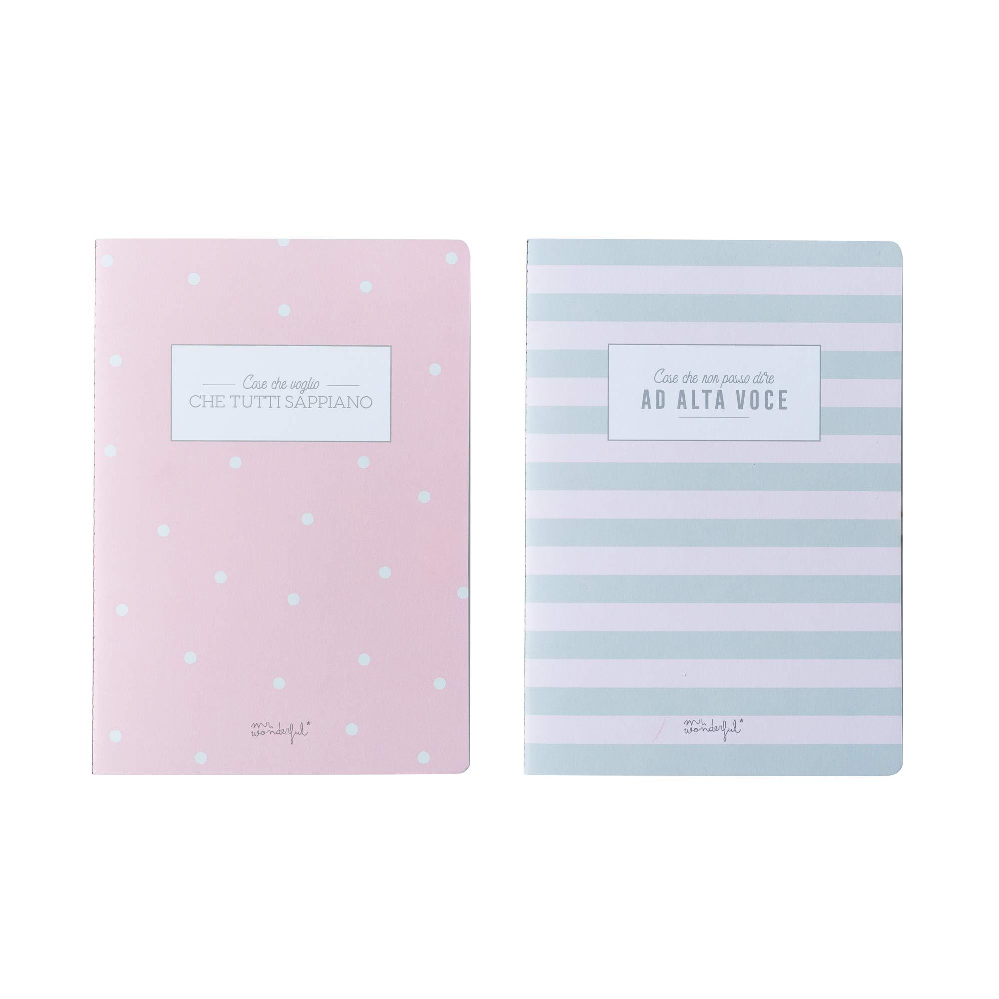 Mr. Wonderful WOA09177IT Set of 2 Notebooks by Mr. Wonderful (Image #1)