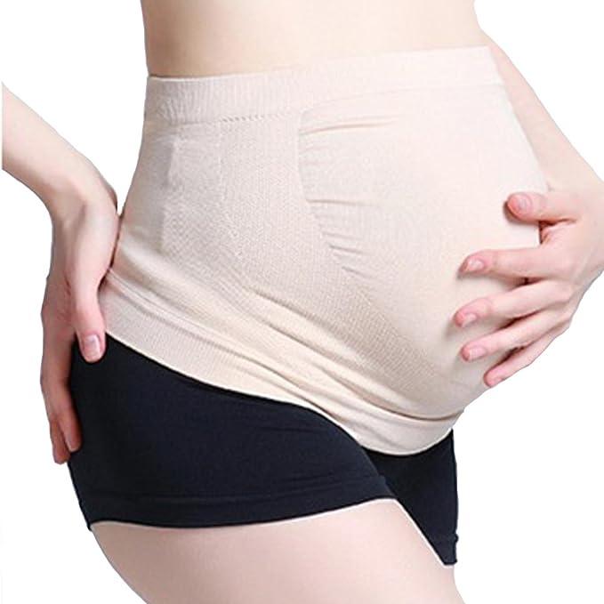 f09e33181 BBsmile mujeres embarazadas Belly Support Band Cinturón de panza banda  elástica sin costuras Cuidado prenatal Ropa