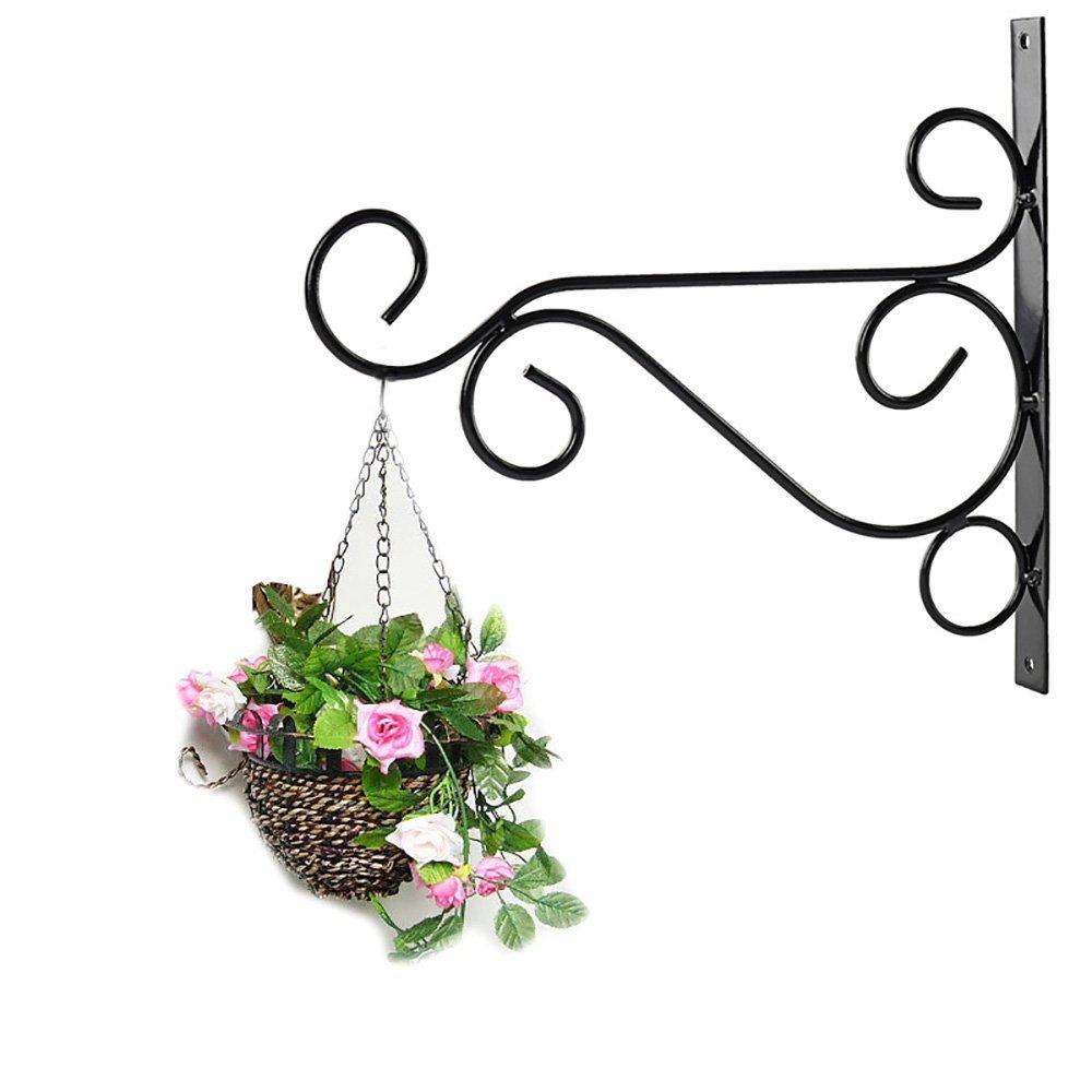 Betoores 2 Pack Metal Plant Hanger Hooks Bracket Wall Hanging Plants Hook for Garden Planters Pots Indoor Outdoor Hanging