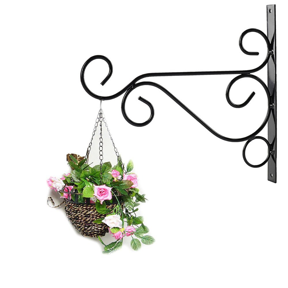 Betoores 2 Pack Metal Plant Hanger Hooks Bracket Wall Hanging Plants Hook for Garden Planters & Pots Indoor Outdoor Hanging