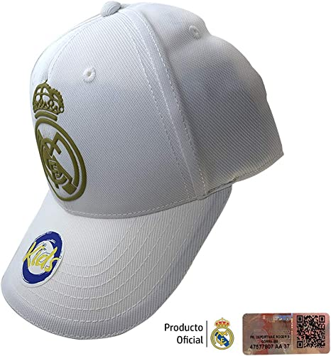 Real Madrid FC RM3GO19P Gorra Ajustable Real Madrid-Blanco/Oro ...