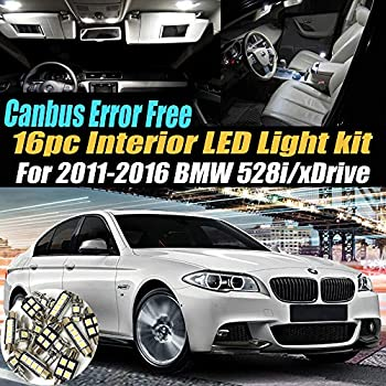 14Pc 2008-2010 BMW 550i CANbus Error Free Car Interior LED White Light Bulb Kit