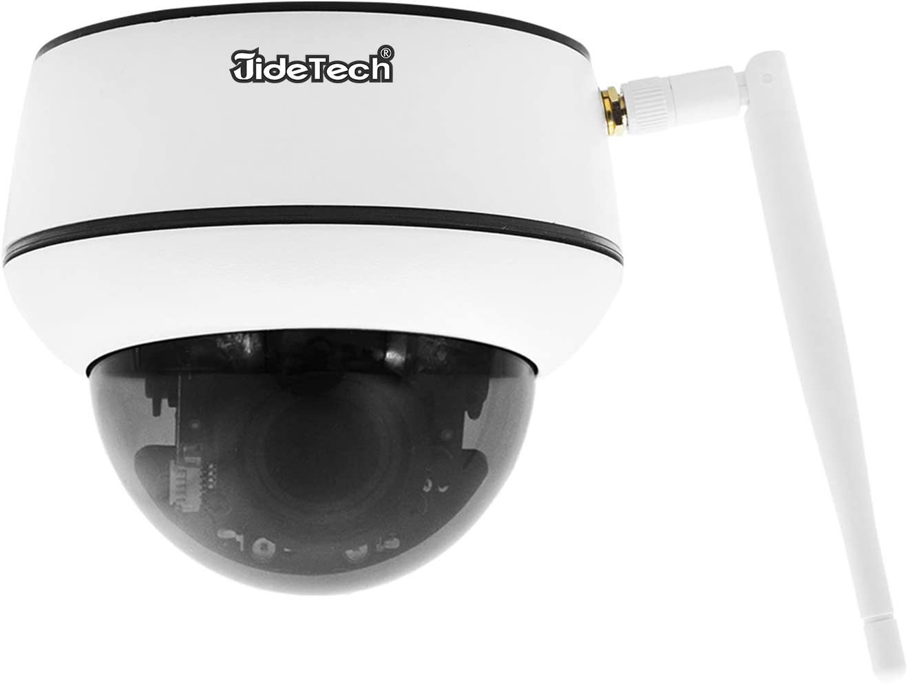 5MP PTZ WiFi IP Camera, 5X Zoom Mini Dome Camera Indoor/Outdoor Security, Wireless Camera with Auto-Tracking / 2-Way Audio / 128G SD Card Slot/Night Vision/ONVIF Support / IP66 Waterproof