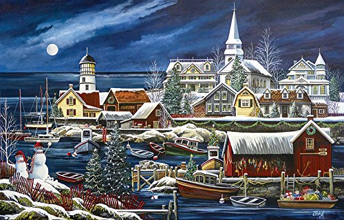 SunsOut Winter Harbor 1000 Piece Jigsaw Puzzle