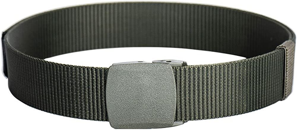 ailishabroy Outdoor Belts For Men Nylon Canvas Breathable Military Tactical Men Waist Belt With Plastic Buckle