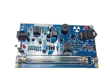 Montado DIY Kit de Contador Geiger detector de radiación Nuclear gm tubo