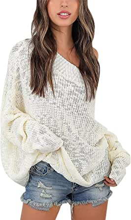 Jerseys de Punto Mujer Suéter Largos Jersey Punto Grueso Señora Sueter De Mujer Oversize Sweaters Tejido de Mujer Sweater sin Tirantes Anchos Mujeres Jerséis Oversized Sueteres Tejidos Invierno