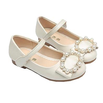 155c513b903 BININBOX Girls Pearl Girls Dress Shoes Princess Ballet Shoes Kids (9.5 M US  Toddler
