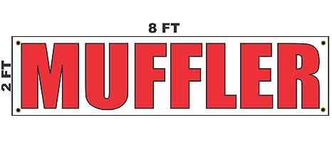 9246c0a4c Amazon.com   2x8 Muffler Banner Sign 24