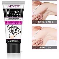 Crème blanchissante naturelle pour les aisselles, ligne de bikini aisselle éclaircissante Ligne de blanchiment intime, entrejambe et mamelon blanchissant rosâtre, cheville au genou éclaircissante