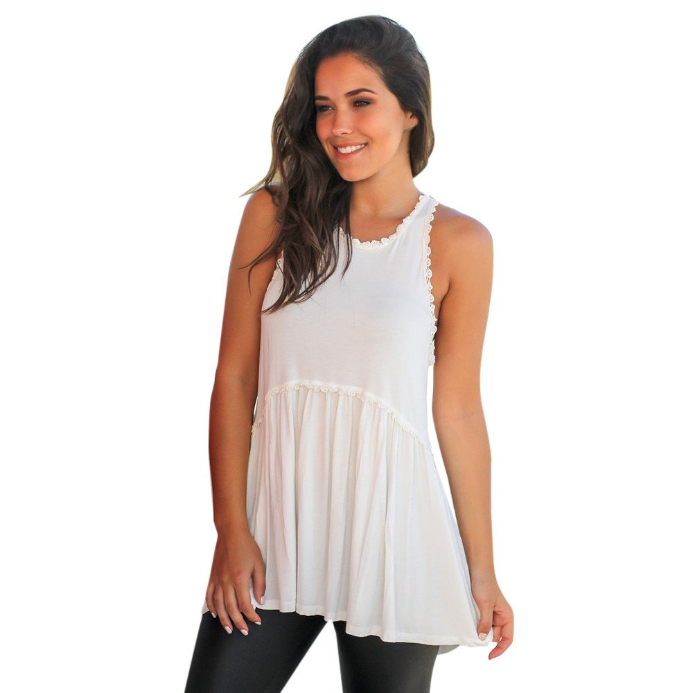 Amazon.com: Womens Tank Top Clearance Lace Cami Shirt A-Line Sleeveless Blouse Solid Tunic Tops Camisole: Clothing