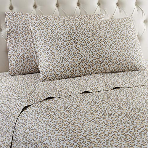 Shavel Home Products Micro Flannel Sheet Set, Full, Leopard ()