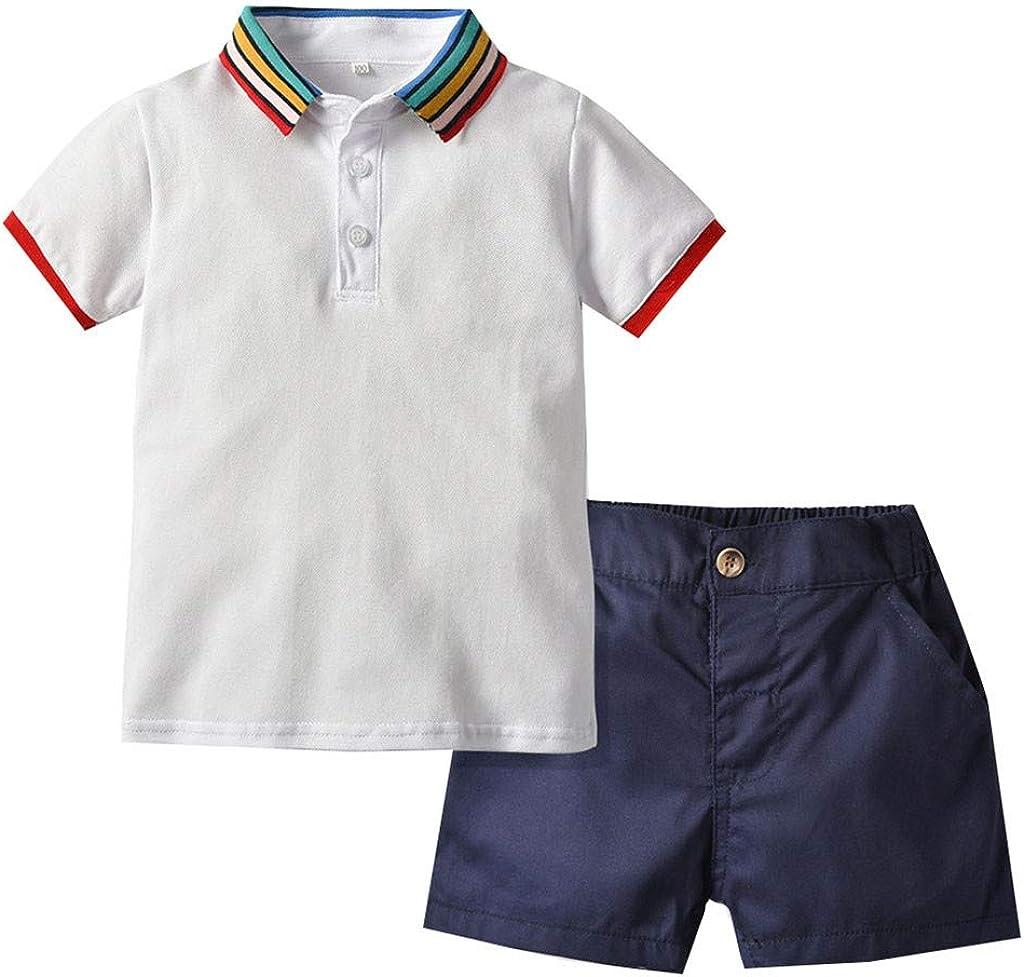 DWQuee Little Girls Kleidung Schulterfrei Crop Tops Hosen Outfits f/ür 1-6 Jahre