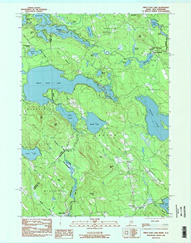 Maine Maps | 1983 Great East Lake, ME USGS Historical Topographic Map |Fine Art Cartography Reproduction Print