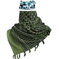 """iMucci 43""""x43"""" Arab Tactical Scarf 100% Cotton - Desert Military Shemagh (6 Colors)"""