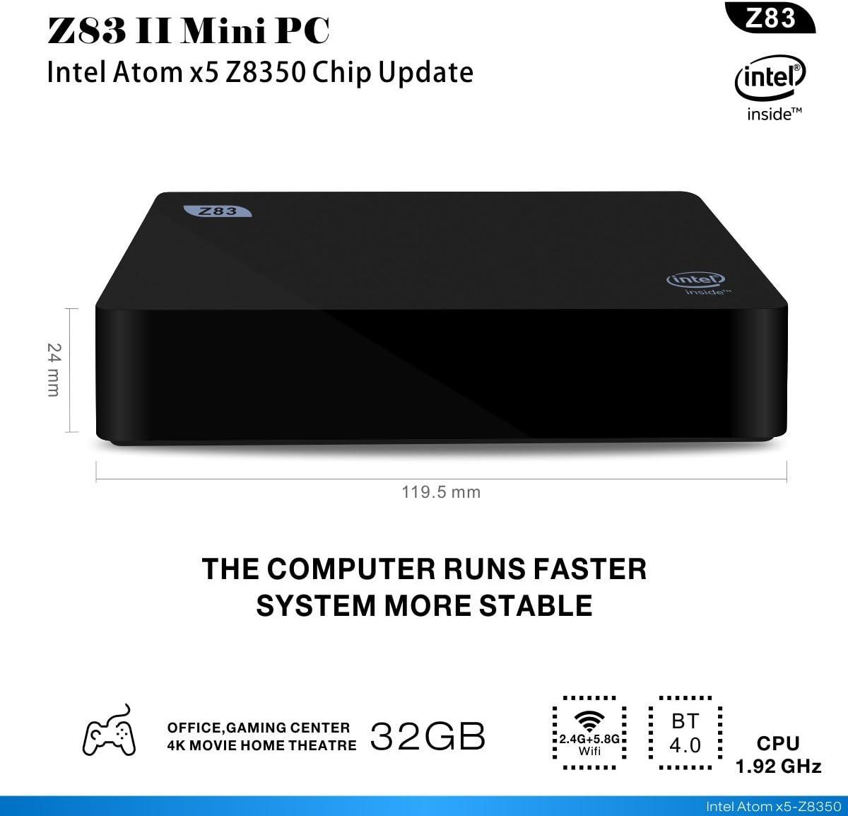 Z83 II Mini PC Intel Atom X5 de z8350 Procesador Intel Atom ...